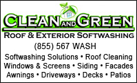 Clean Green Softwash Solutions & Pressure Washing
